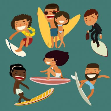 surfing character set.