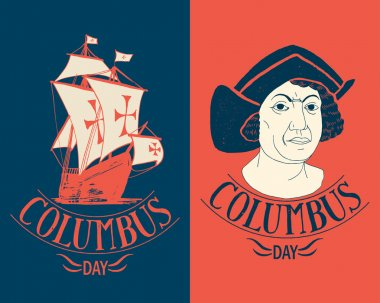 Columbus day lettering