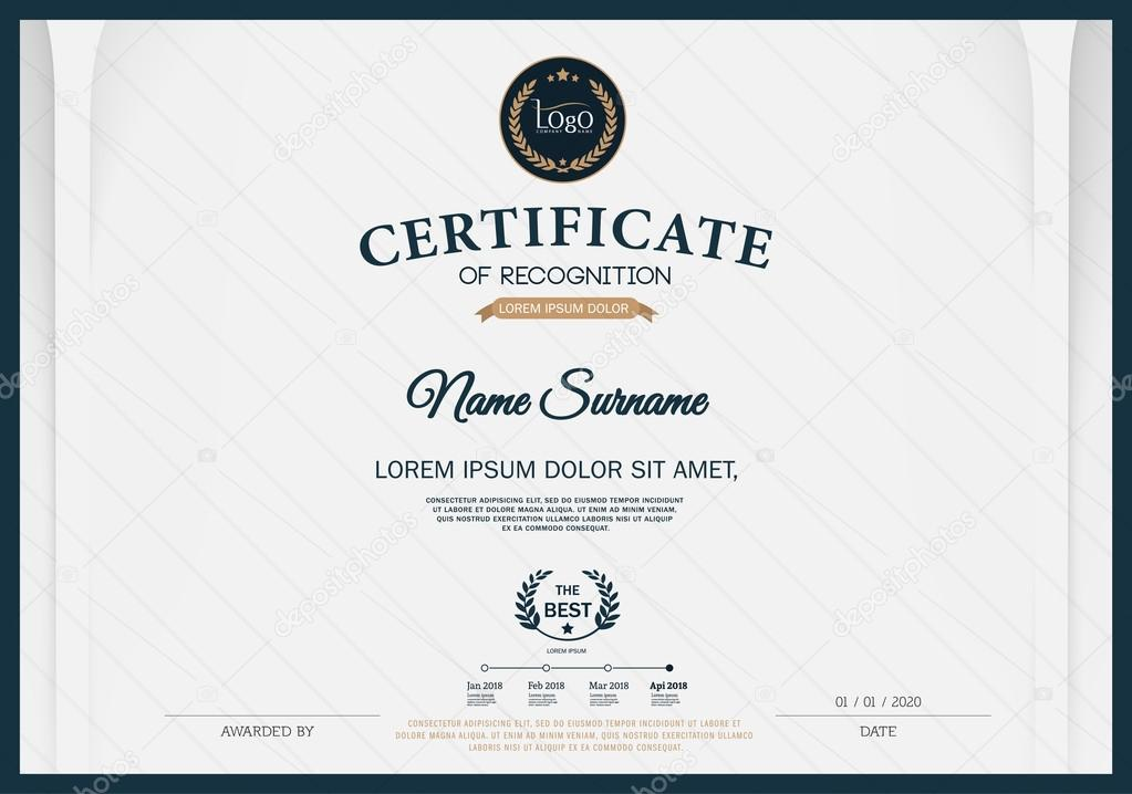 Certificate of recognition frame design template layout template in certificate of achievement frame design template vector by sakeet yelopaper Images