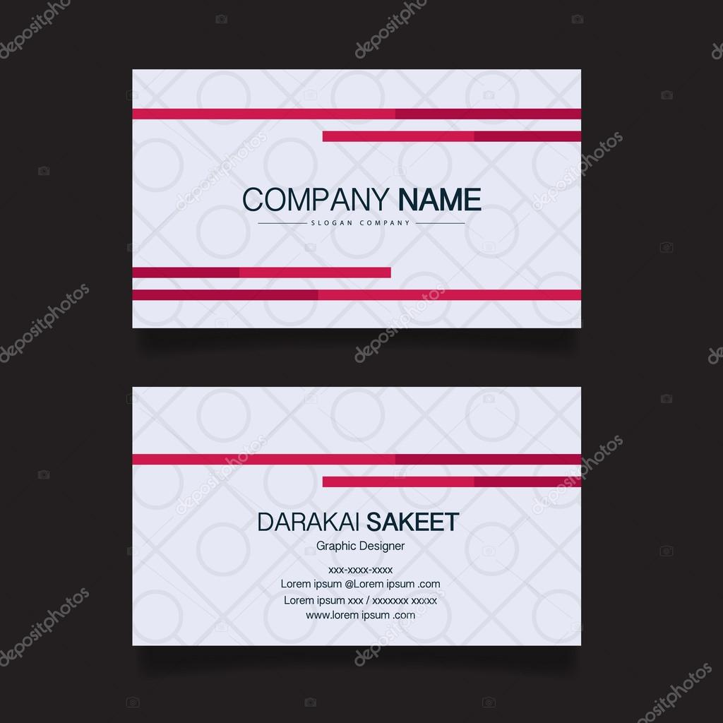 Name card modern simple business card template vector illustration business card vector design template background vector by sakeet colourmoves