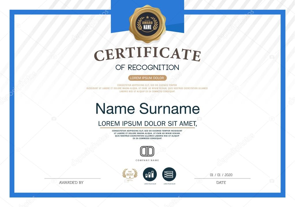layout of certificate
