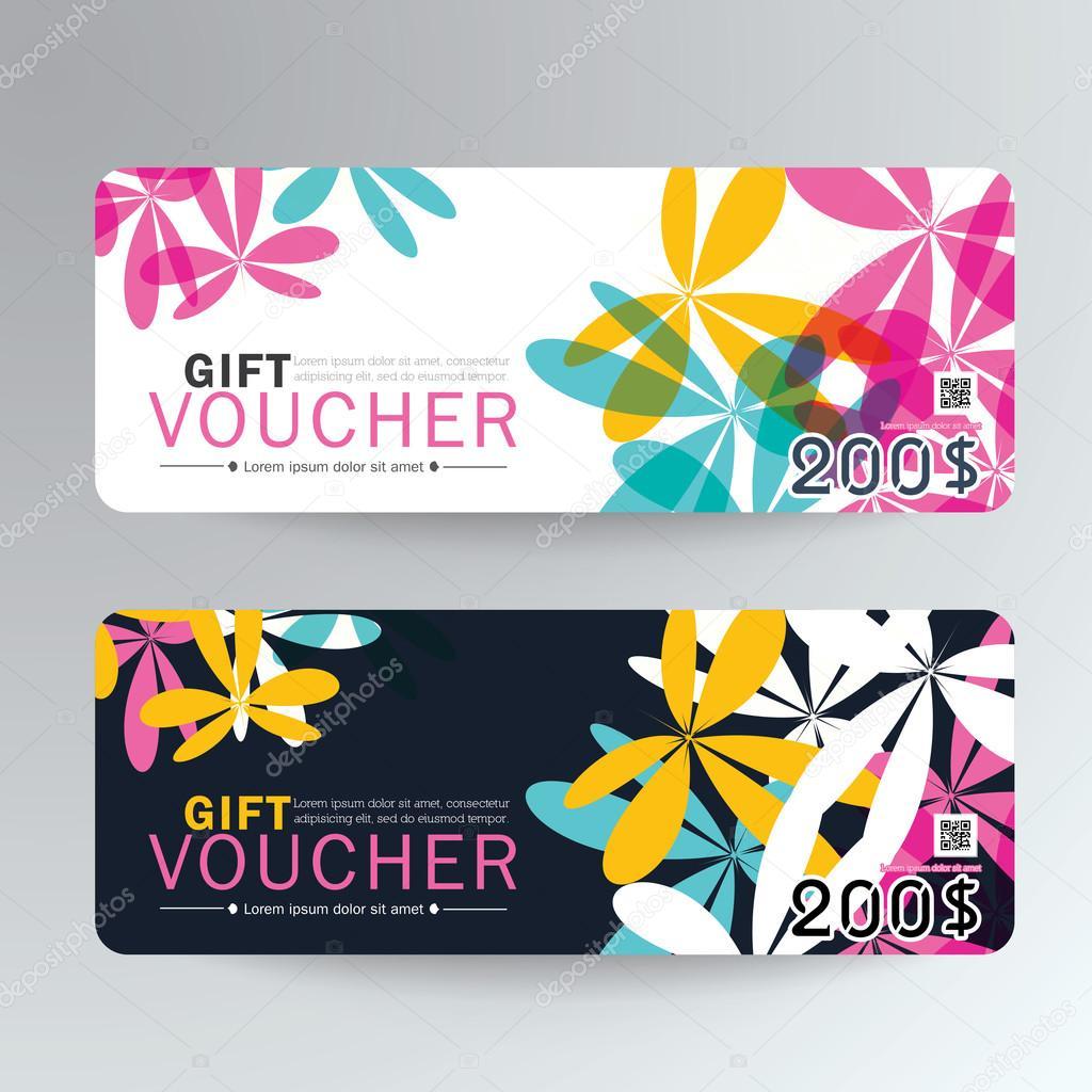 Geschenk Gutschein Vorlage mit premium — Stockvektor © sakeet #112848040