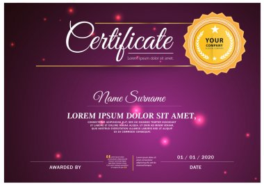 Certificate Card, Vector certificate template.