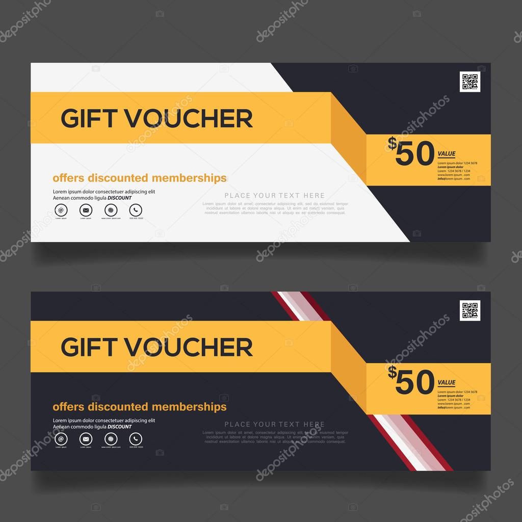 Gift voucher design vector template Vector sakeet 99157054 – Voucher Design