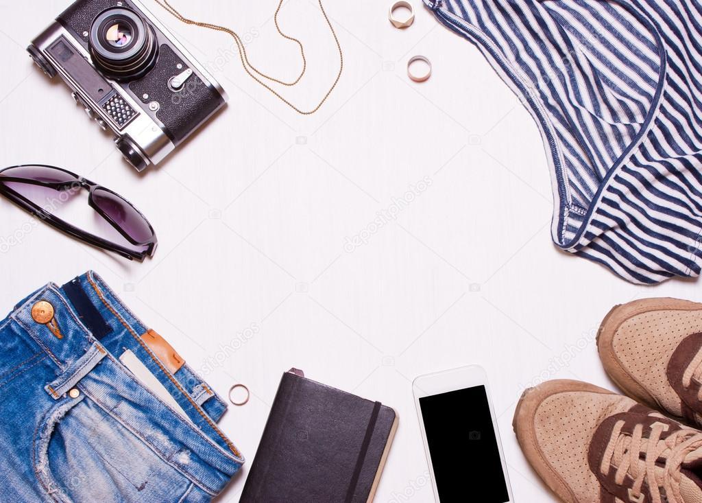 Collage de mujer, accesorios hombre, ropa — Fotos de Stock © Alexmia ...