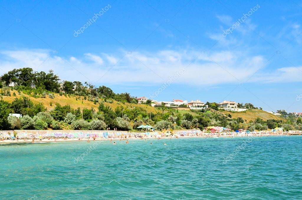 Linea costiera della spiaggia a odessa foto editoriale for Piani domestici della carolina costiera