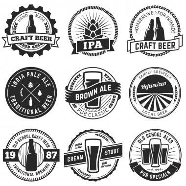 Craft beer labels.