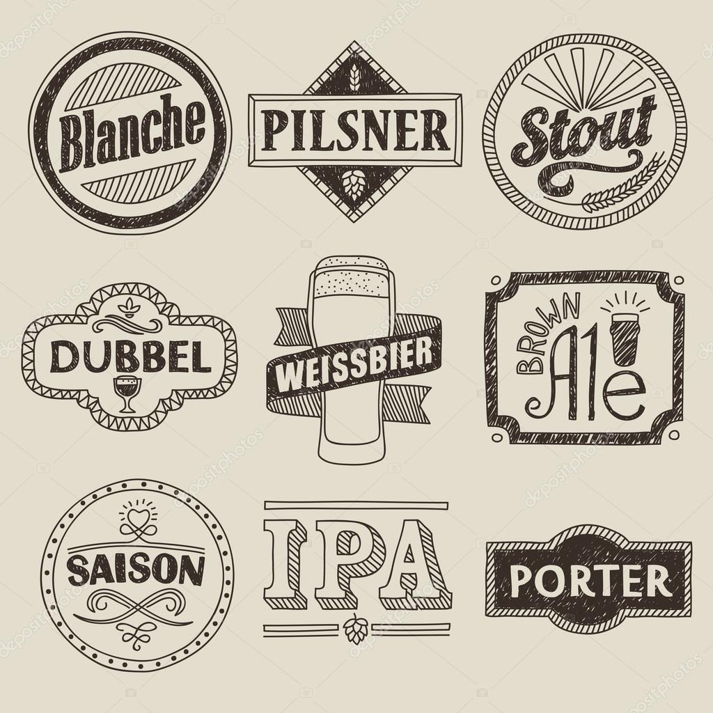 Craft Beer Ipa Labels