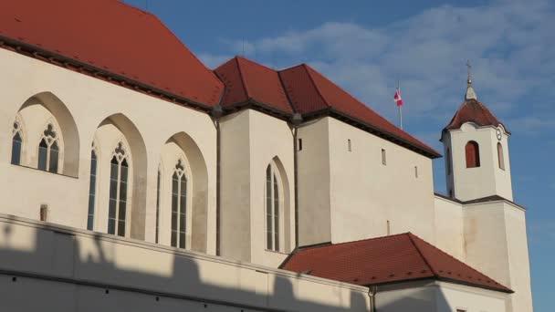 Brno, Česká republika - 4 ledna 2014: hrad Spielberg, Jižní Morava, Evropa, Eu