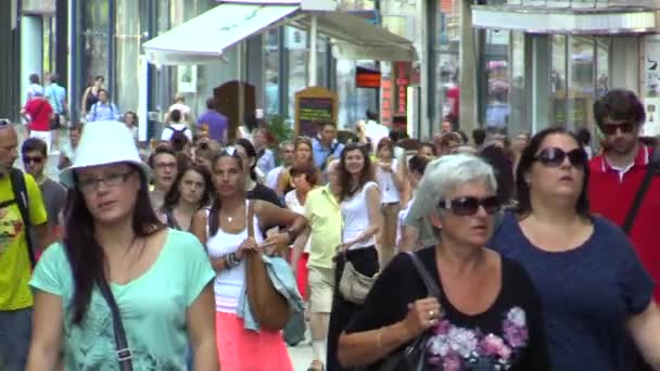 BRNO, CZECH REPUBLIC - JULY 16, 2015: Walking people in center Brno, South Moravia, Europe, EU