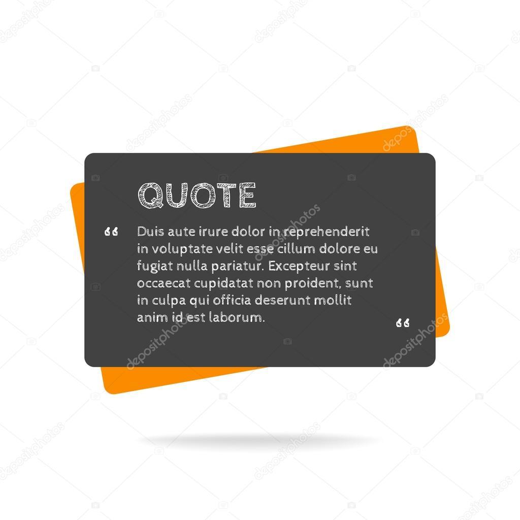Anführungszeichen Sprechblase Leer Leer Zitat Angebotsvorlage