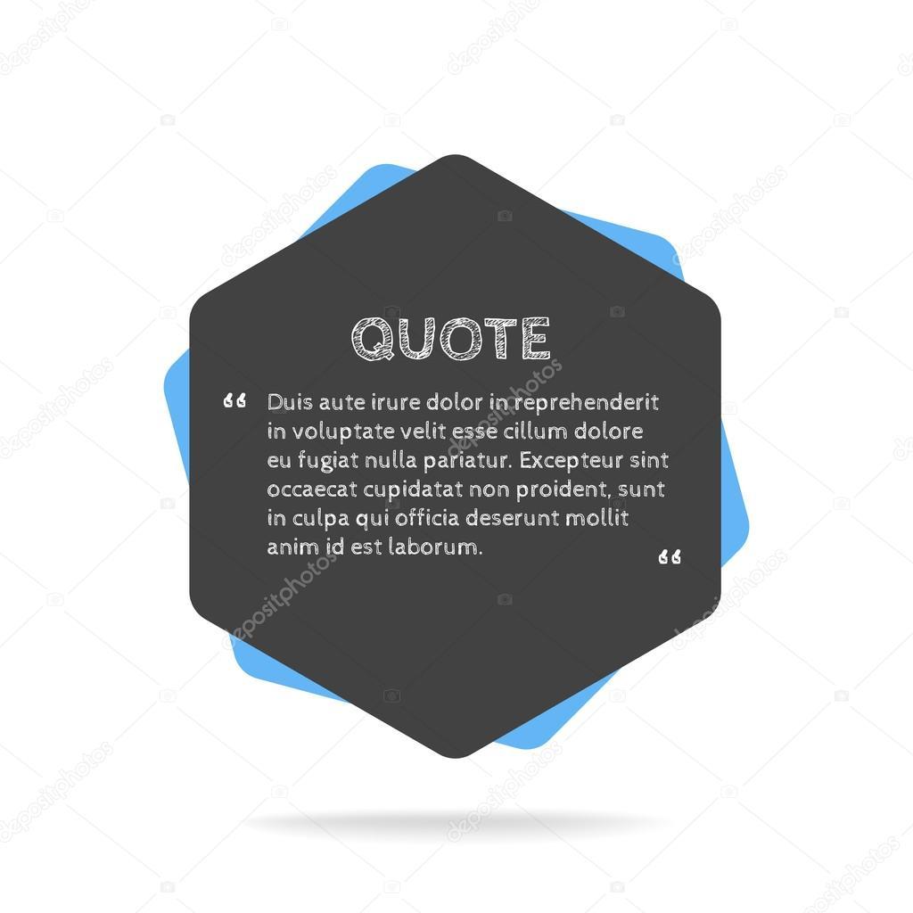Quotation mark speech bubble. Empty quote blank citation template ...