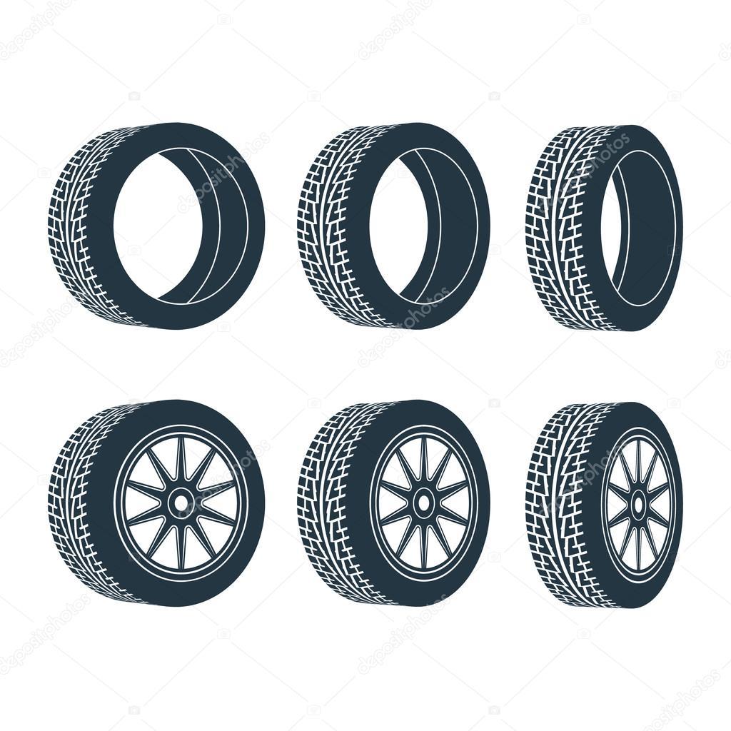 voiture roue caoutchouc pneu jante image vectorielle kapona 84940954. Black Bedroom Furniture Sets. Home Design Ideas