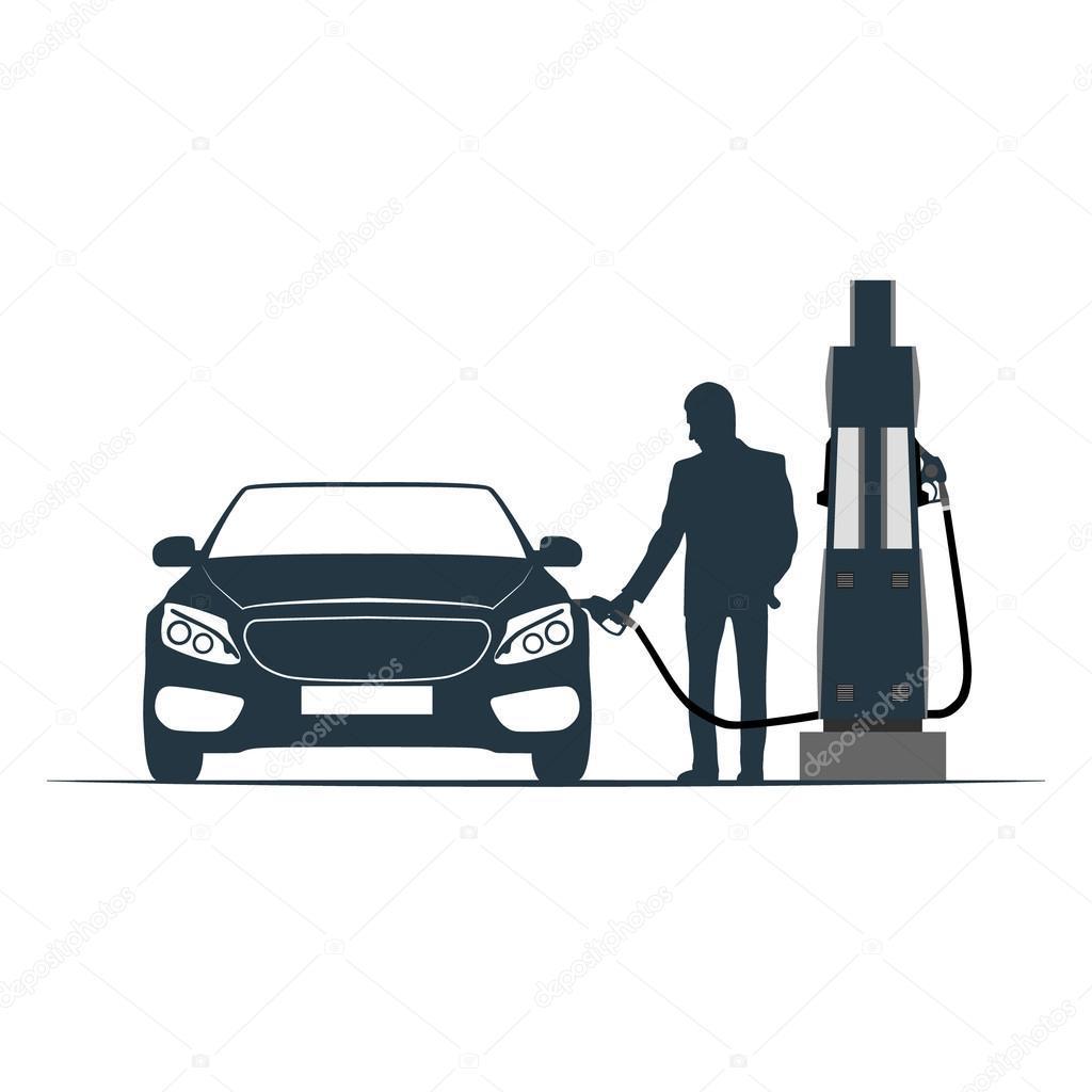 Posto de gasolina do carro abastecimento transporte - Carro de transporte ...