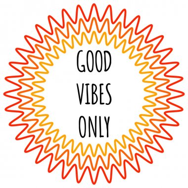 Good vibes only Poster.