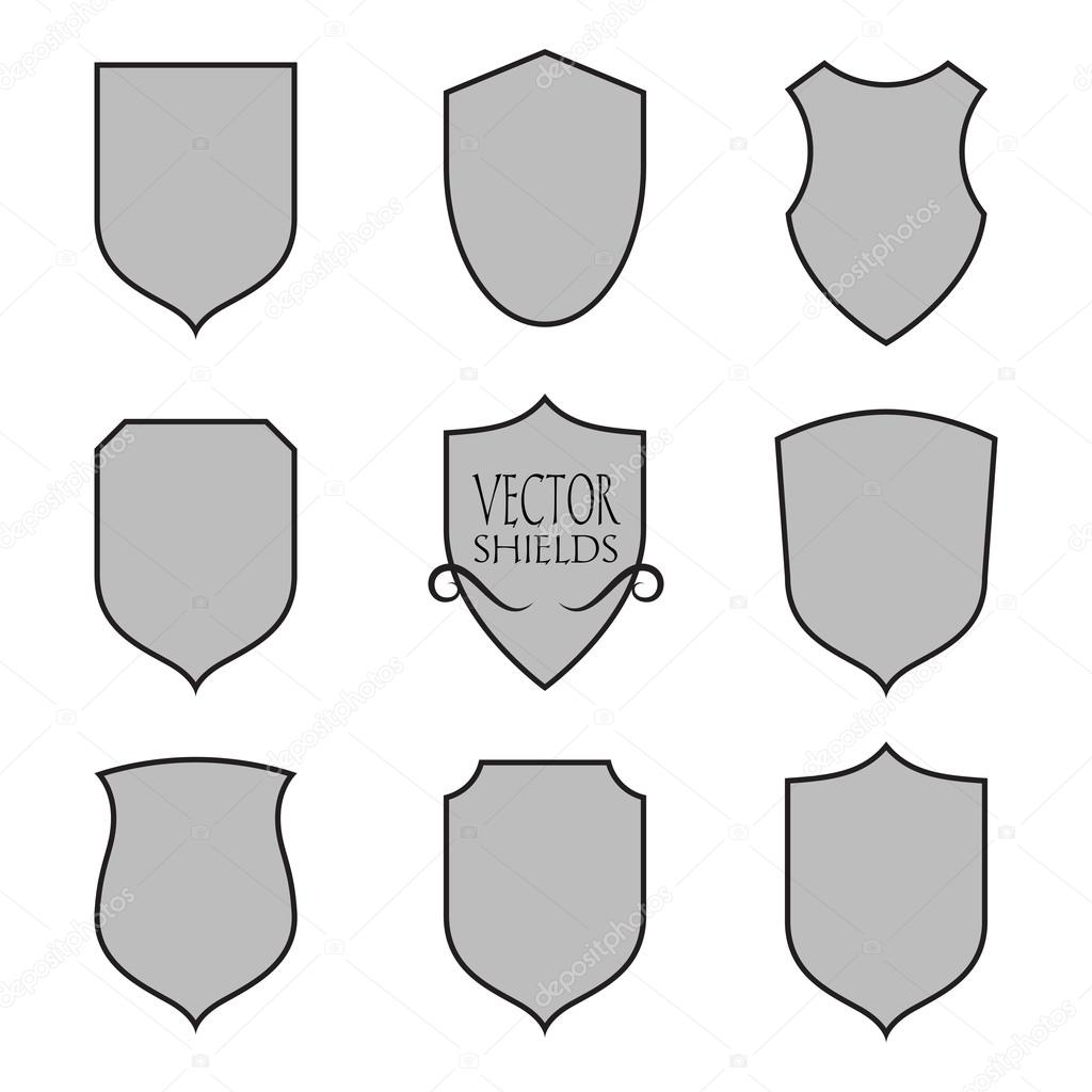 vector shield silhouette for graphic design � stock vector