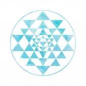 Fotografie Heilige Geometrie und Alchemie symbol Sri Yantra