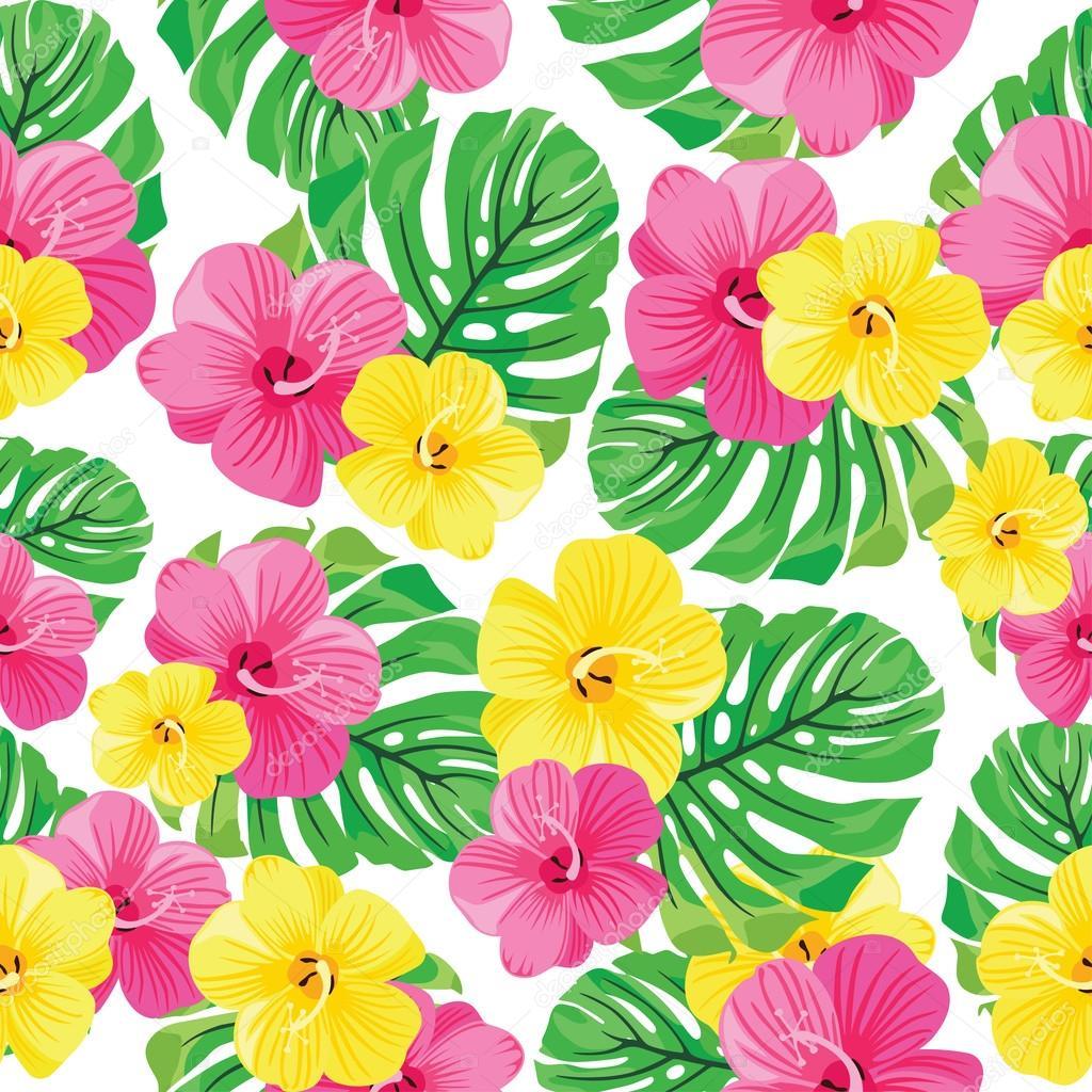 Hawaiian Pattern Sewing Fabric Get A Digital Print 14