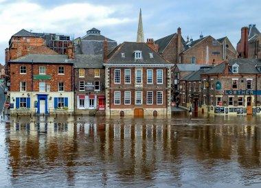 Flooding on King's Staith, York, England