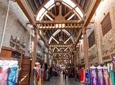 The old textile souk in Bur Dubai