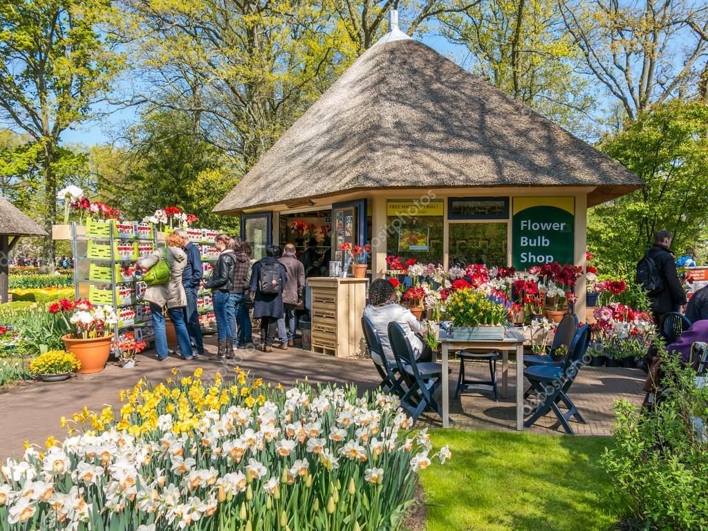 Flower Bulb Gift Shop In Keukenhof Gardens, Holland U2014 Stock Photo #87697254