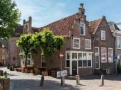 Staré domy na Groenmarkt v Amersfoort, Nizozemsko