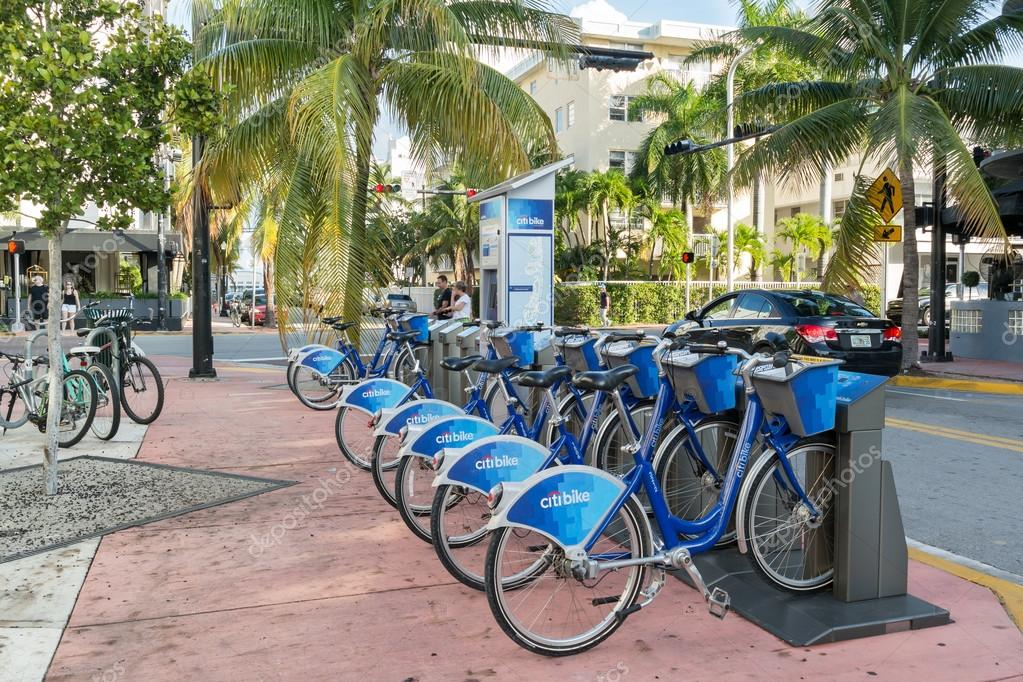 Citi Bike Miami >> City Bike Station In Miami Beach Florida Stock Editorial Photo