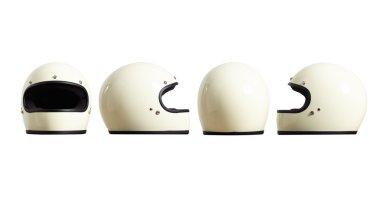 Set Motorbike helmets forms all sides