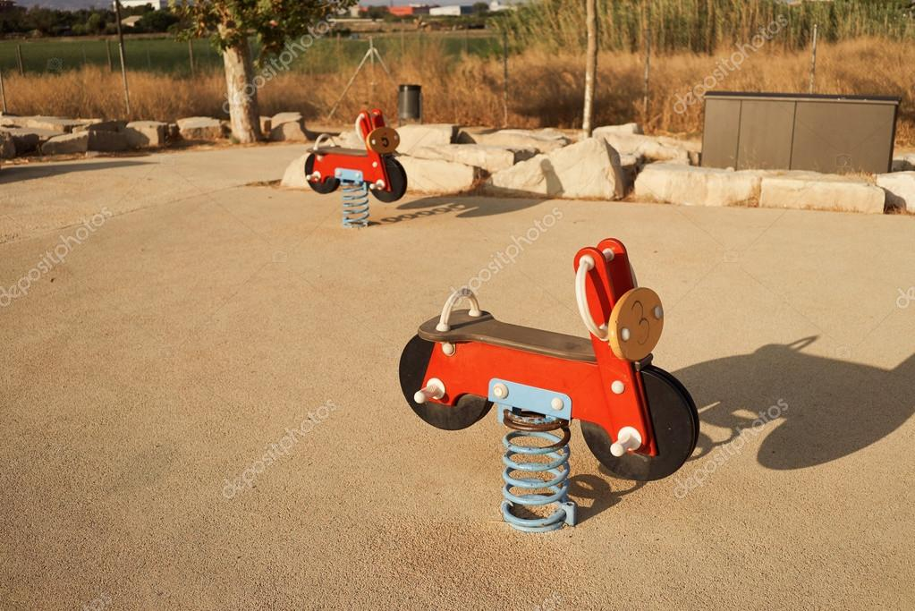 Toy seesaw motorcycles