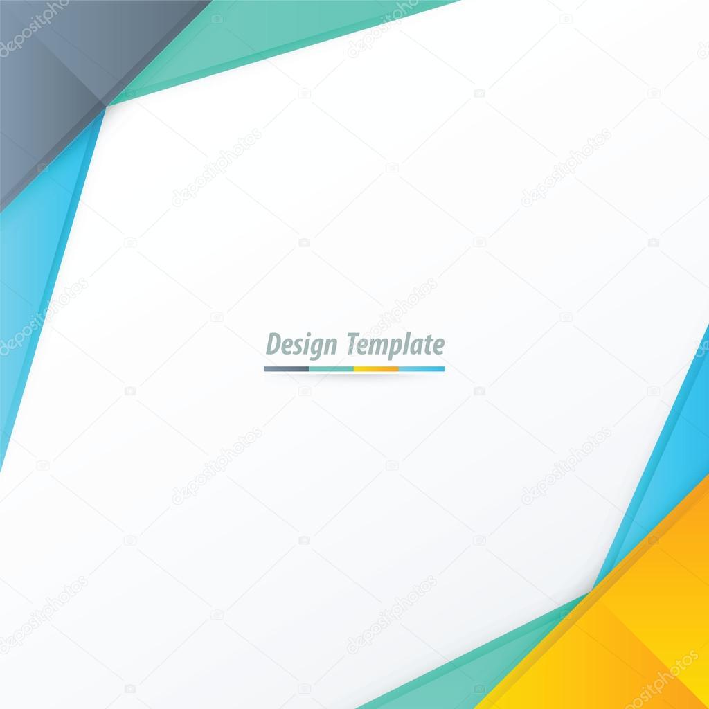 Plantilla diseño amarillo, azul, verde — Archivo Imágenes ...