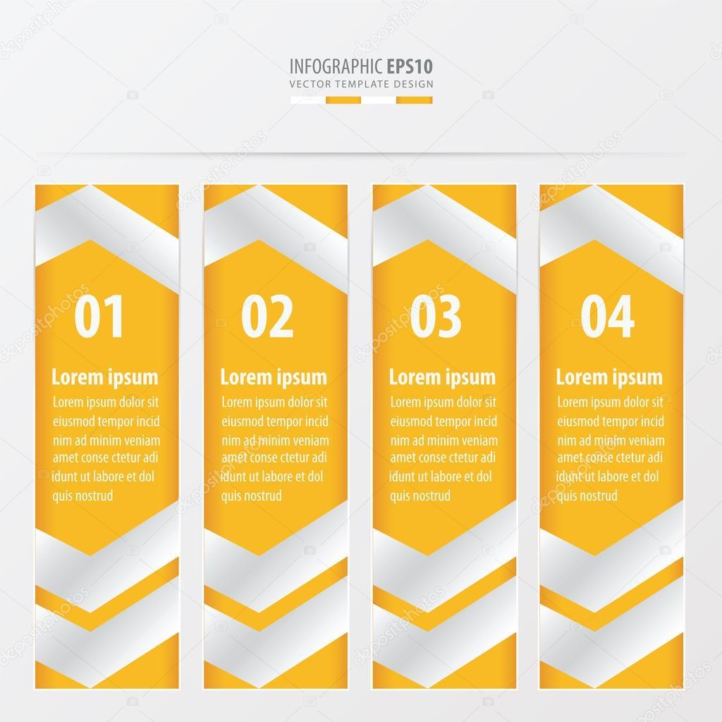 Bandera plantilla diseño diseño amarillo color — Archivo Imágenes ...