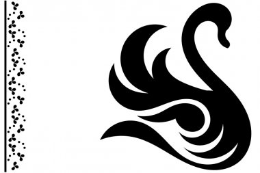 abstract swan