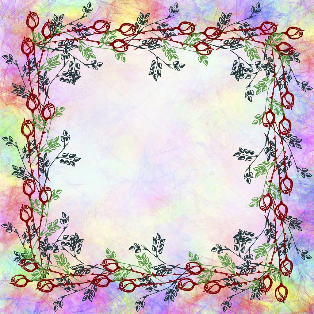 Drawn Floral Background Stock Photo Jeveeart 119831034
