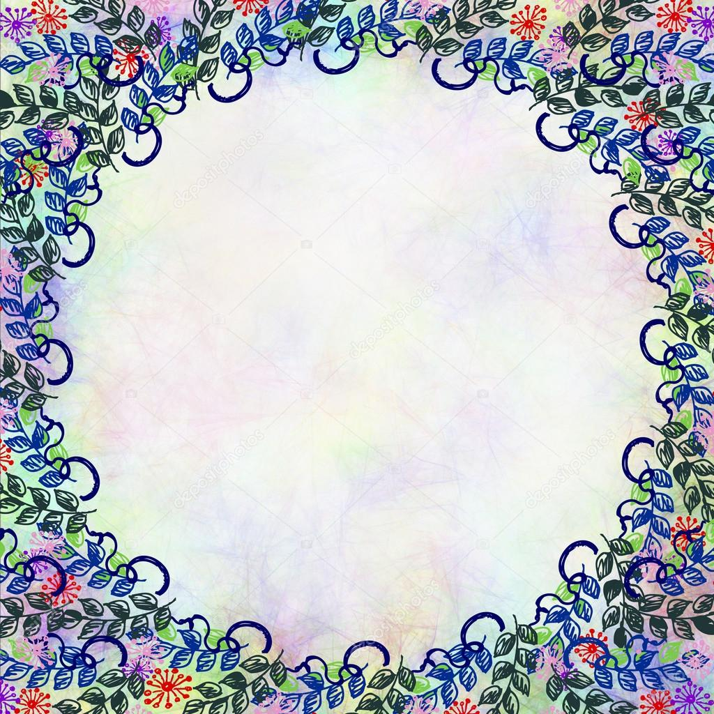 Drawn Floral Background Stock Photo Jeveeart 119831288