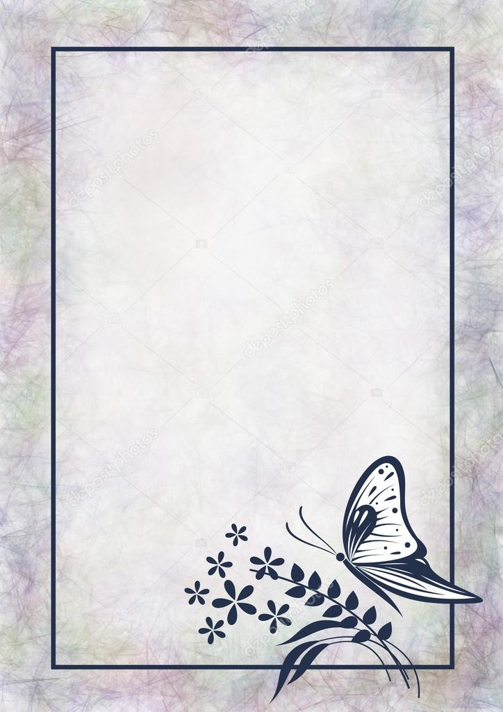 Drawn Background With Butterfly Stock Photo Jeveeart