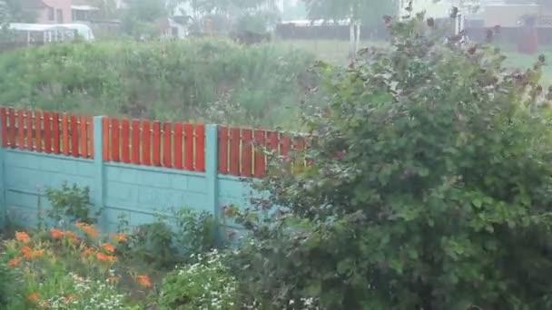 Stromy, vane vítr déšť s kroupami bouřlivé