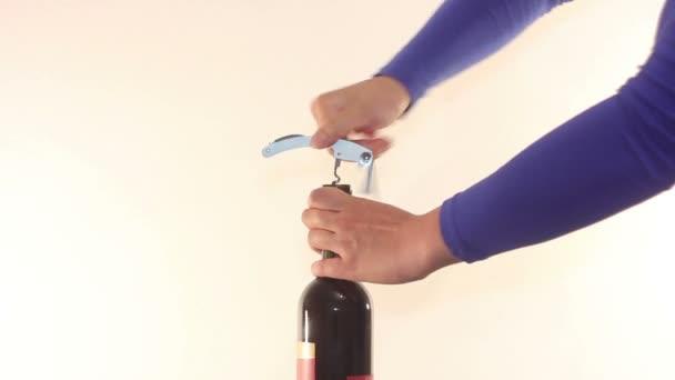 Otevřít láhev vína s vývrtkou