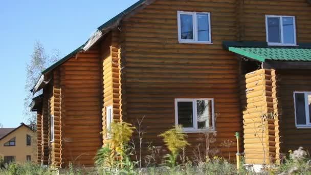Dřevěné county strana domu