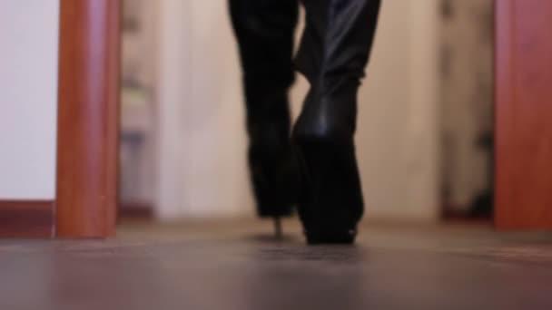 High Heels Stop in a Doorway