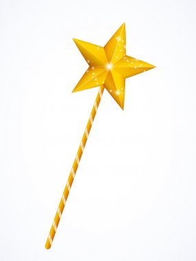 Fairy magic wand with star