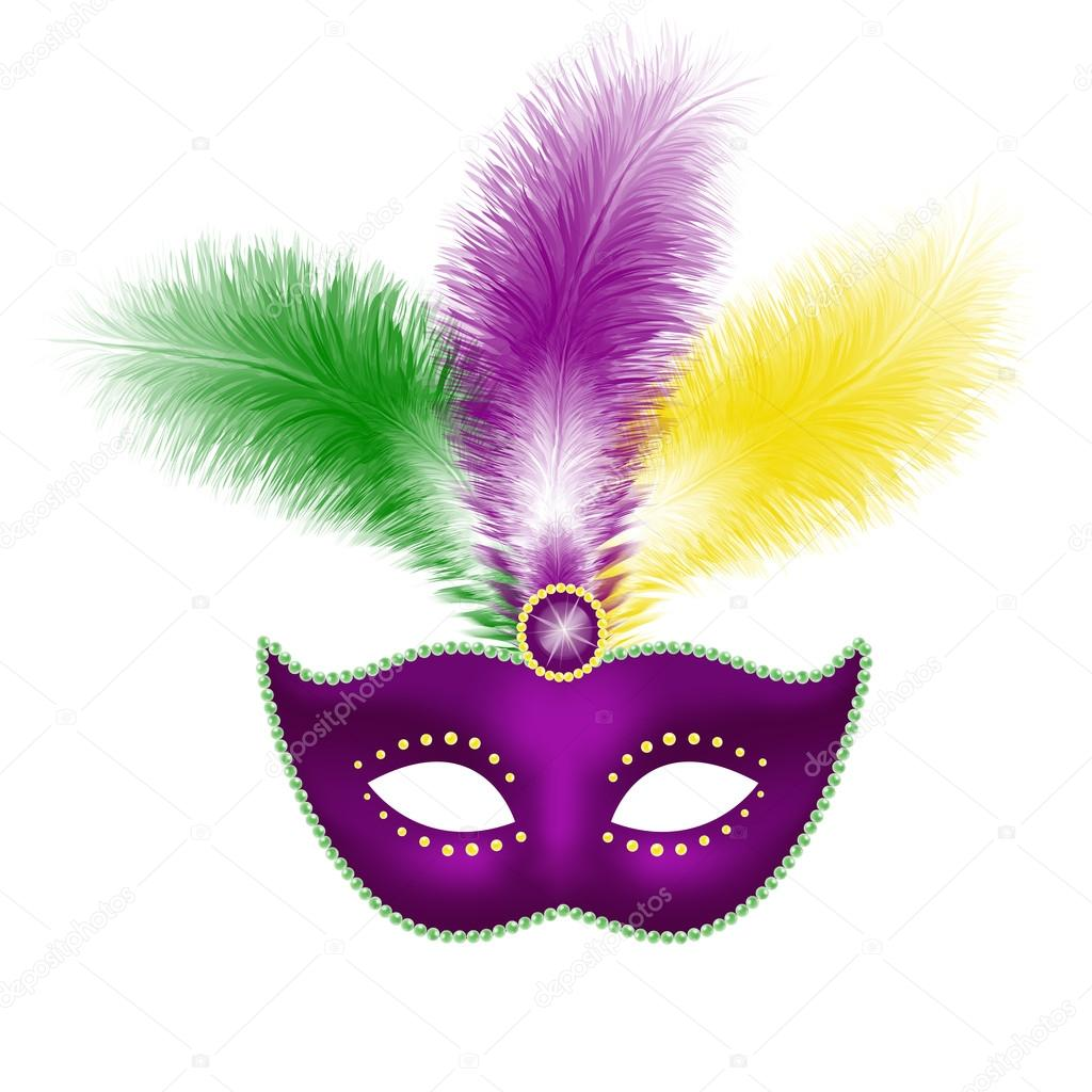 Fasching Maske Mit Federn Stockvektor C Annaoddi 83601602