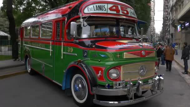 Modell der 1970er Jahre argentinische Stadtbus öffentlichen Verkehrsmittel