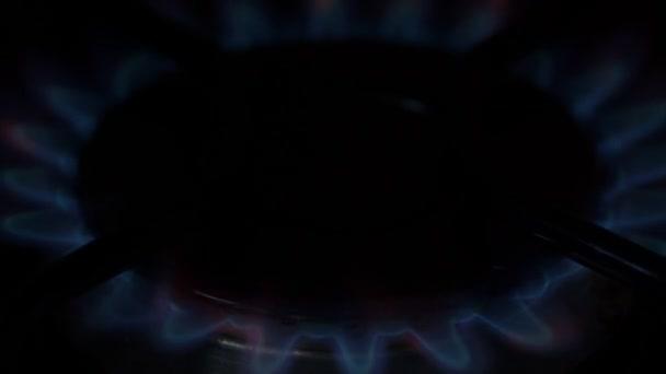 Plynový sporák hořák svítí/turn off
