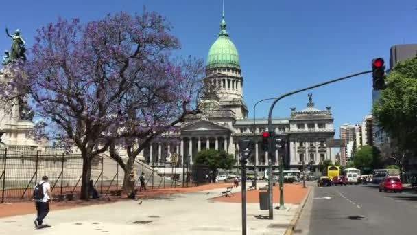 Argentinian Congress building street view