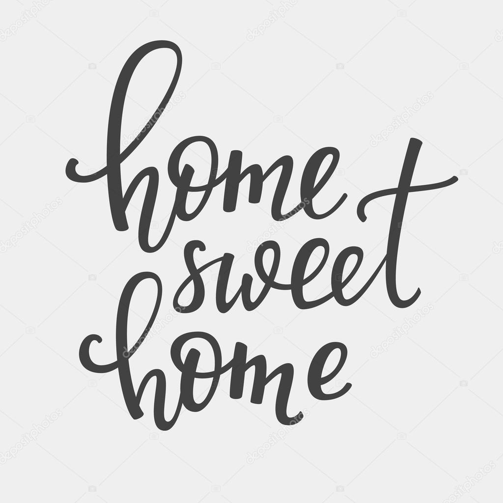 home sweet home lettering di vettore vettoriali stock lenaro 105540020. Black Bedroom Furniture Sets. Home Design Ideas