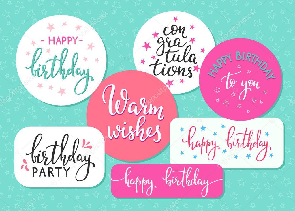 Signo De Letras De Feliz Cumpleaños