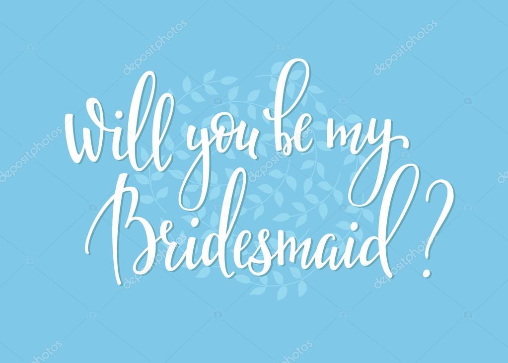Usted será mi Dama de honor Letras simples boda — Archivo Imágenes ...