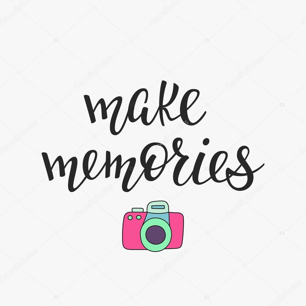 Make memories quote typography — Векторное изображение ...