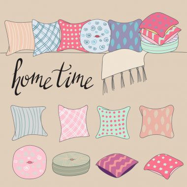 colored pillows or cushions for home interior
