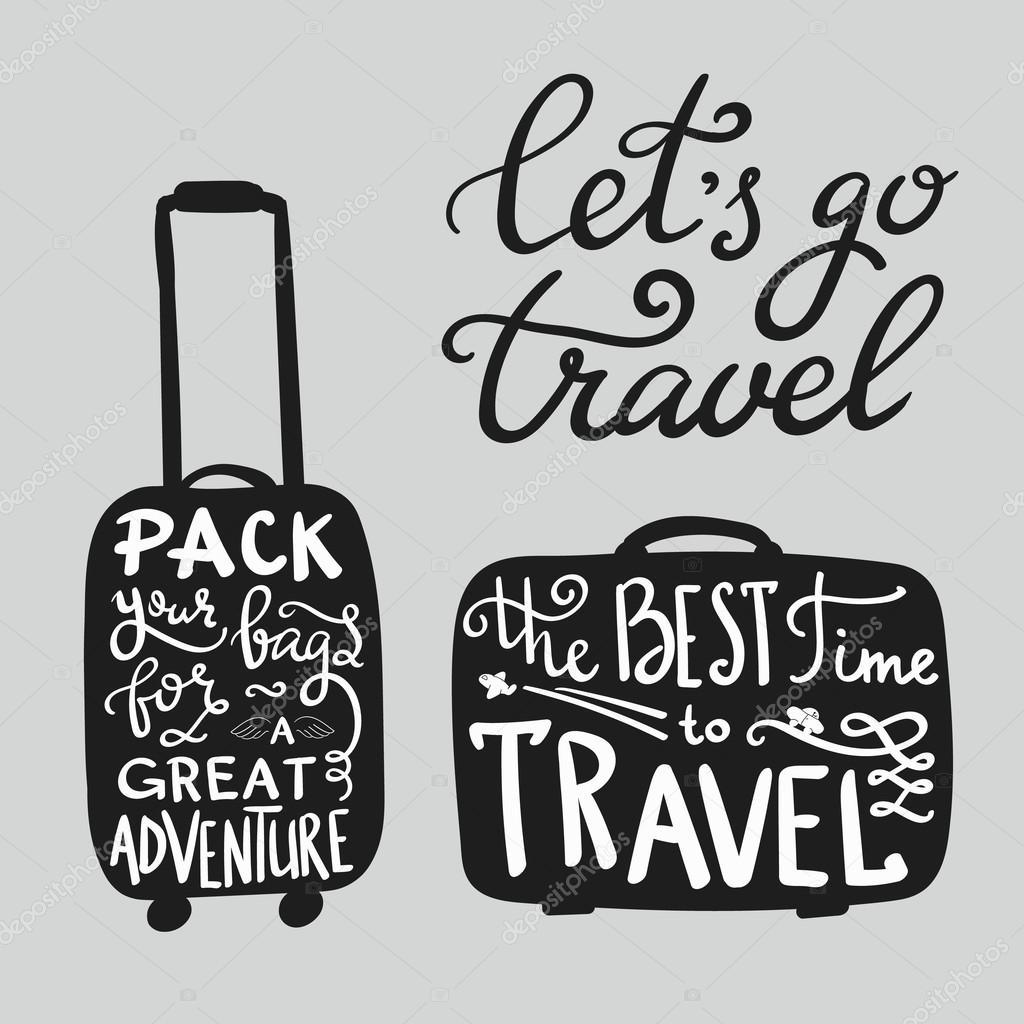 Citaten Over Inspiratie : Reizen inspiratie citaten over koffer silhouet